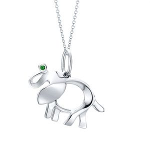 Tiffany 925 Silver Save The Elephants Necklace
